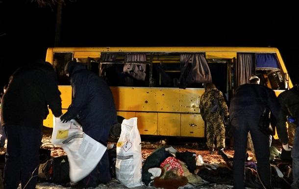 Опубликовано видео уничтожения террористами автобуса под Волновахой