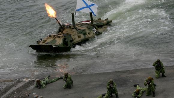 Неизвестная диверсионная группа разбила под Мариуполем только перекинутых туда морпехов Балтийского флота РФ