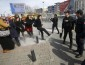 Turkish riot police use rubber pellets to disperse demonstrators during a protest ahead of the International Women's Day, in Istanbul