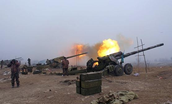 Под Авдеевкой однократным артиллерийским ударом ВСУ большой плотности накрыто пехоту боевиков