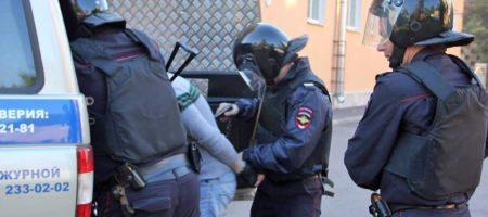 В центре Москвы полиция задержала фанатов Ростова, перепутав их с фанатами Украины (ФОТО)