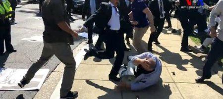 Охрана Догнана устроила массовое кровавое побоище в Вашингтоне (ВИДЕО 18+)