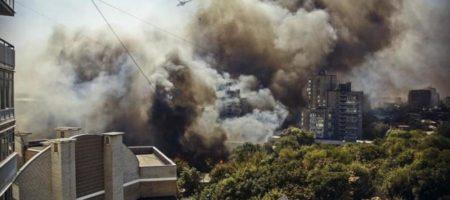 Масштабна пожежа в Ростові знята з дрону. Постраждалі шоковані підпалом влаштованим владою, зріє бунт