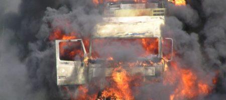 """Мощнейший взрыв сотряс Горловку! Началась зачистка неугодных боевиков, подорвали Камаз с боевиками """"Сомали"""" (ВИДЕО)"""