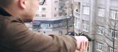 В Харькове мажор-отморозок стрелял по людям из балкона, а друзьями снимали его (ВИДЕО)