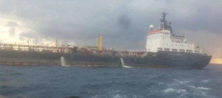 Ливийские военные расстреляли и потопили военный танкер россиян прописанный в оккупированном Крыму (ВИДЕО)