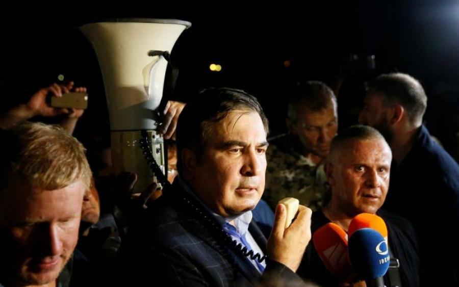 В офис Саакшвили в Харькове ворвались вооруженные люди