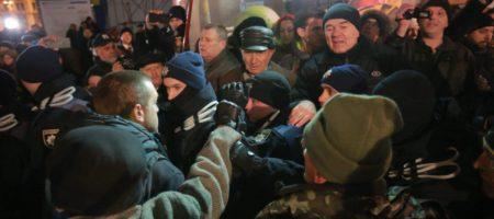 У четверту річницю Революції Гідності на Майдані відбулись сутички між поліцією та учасниками акціями