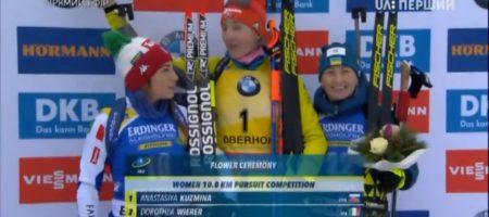 Невероятный подарок Украине на Рождество! Вита Семеренко стартовав 22 завоевала медаль в Оберхофе