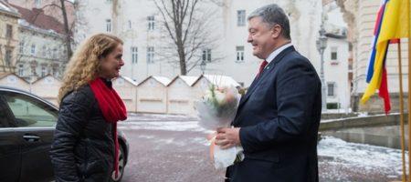 Генерал-губернатор Канады Жюли Пейетт прибыла в Львов на встречу с Порошенко