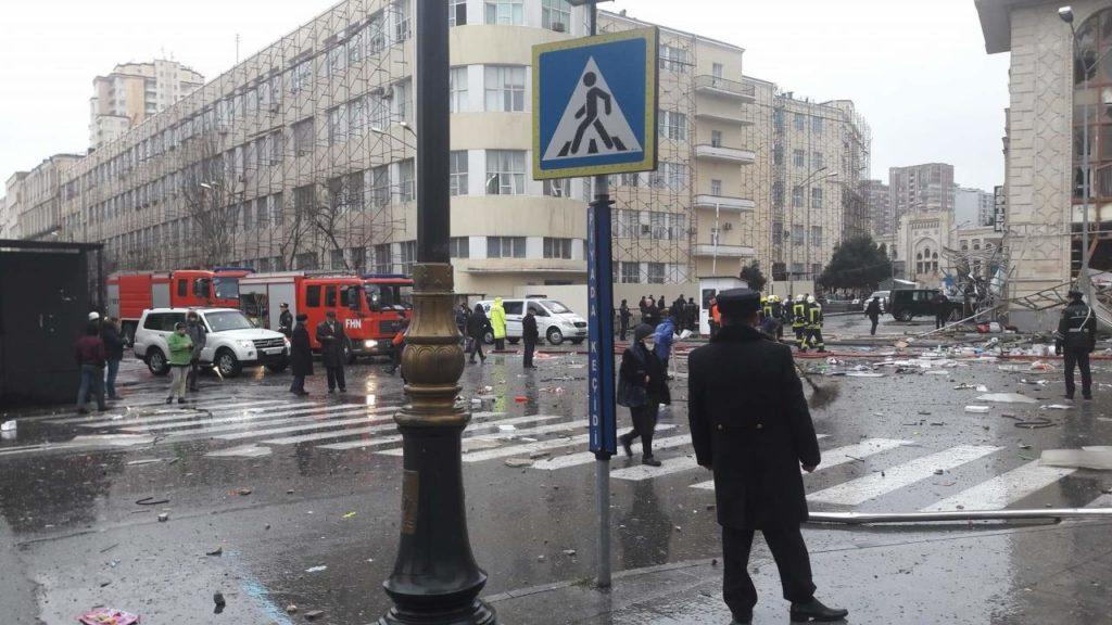Взрыв в центре столице Азербайджана - Баку