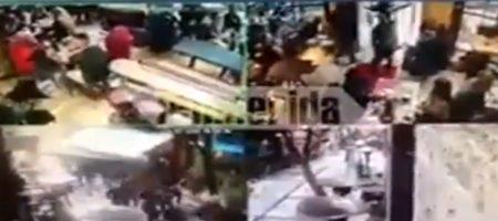 Российские националисты напали с ножами на украинских фанатов Динамо в Греции (ВИДЕО)