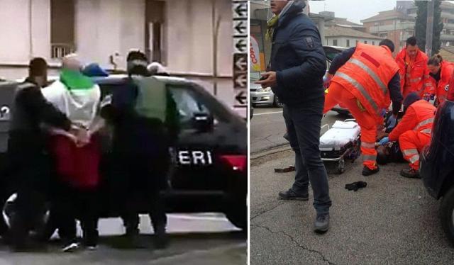 В Италии националист расстрелял иностранцев