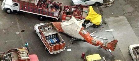 ЧП в Мексике: на газовоз рухнул вертолет