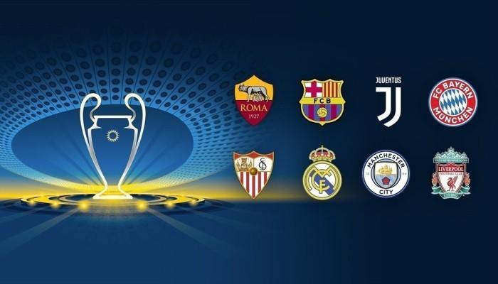 Стали известны пары четверть финалистов Лиги Чемпионов