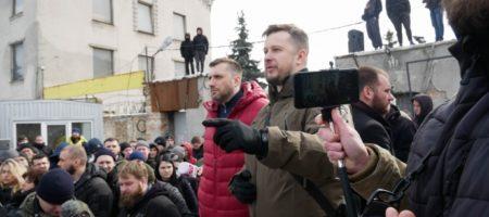 """Лидер """"НацКорпуса"""" прокомментировал захват рекрутинговой базы батальона (ВИДЕО)"""