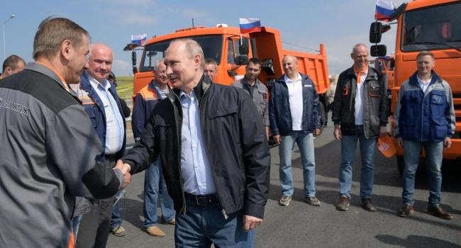 """Большой позор Путина во время пафосного открытия """"Керченского моста"""": заплевали даже фанаты (ВИДЕО)"""