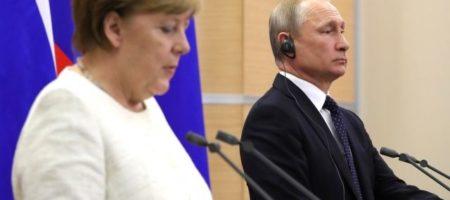 Жалкий Путин в Германии предложил Меркель оставить Донбасс лишь бы ЕС не усилила санкции вслед за США (ВИДЕО)
