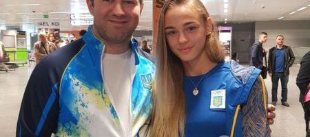 Самую юную чемпионку мира по дзюдо, Дарью Балодед триумфально встретили в Киеве (КАДРЫ)