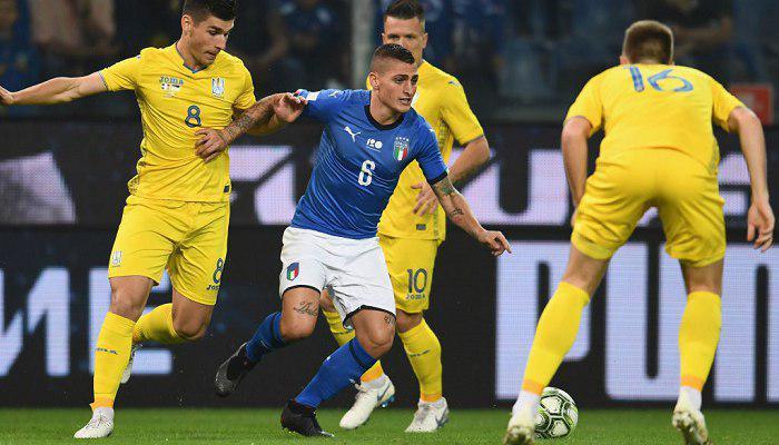 Сборная Украины провела неплохой поединок в Генуе и сыграла в результативную ничью с Италией