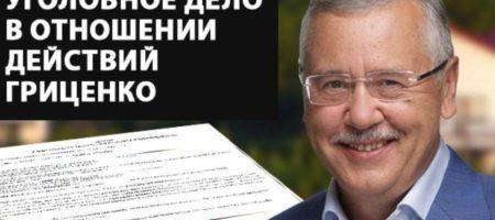 ГосБюро расследований Украины возбудило уголовное дело в отношении Гриценко
