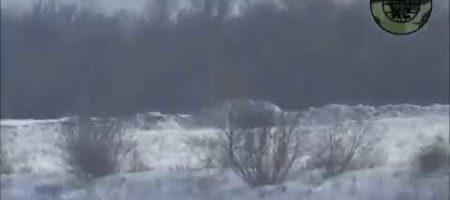 ВСУ ярко удалось уничтожить пулеметную позицию боевиков (ВИДЕО)