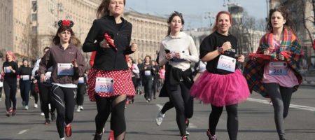 В Киеве женщины проводят благотворительный марафон (КАДРЫ)