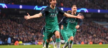 Лига Чемпионов: Тоттенхэм в удивительном матче одолел Ман Сити пробившись в полуфинал