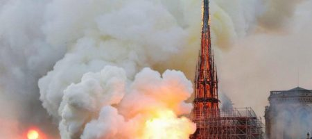 Названа причина страшного пожара который разрушил Собор Парижской Богоматери (ВИДЕО)