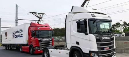 В Германии открыли специальный автобан для грузовиков-троллейбусов