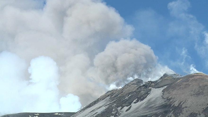 Извержение Этны (ВЕБ КАМЕРА)