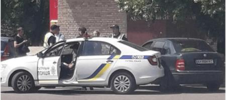 Копы угодили в ДТП под Киевом (КАДРЫ)