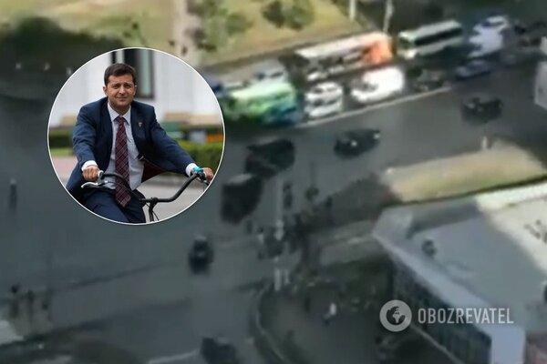 """""""Не велик, а """"Гелик"""": VIP-кортеж Зеленского устроил коллапс в Киеве, украинцы возмущены. Видеофакт"""