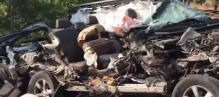 Смертельное столкновение Lexus и грузовика в Херсонской области (КАДРЫ)