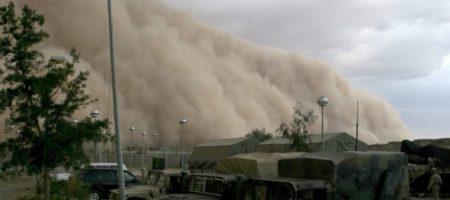 Ужасная песчаная буря пронеслась в Запорожской области (ВИДЕО)