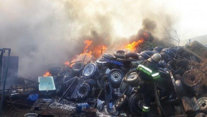 Масштабный пожар произошел в Харькове