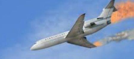 Самолет премьер-министра загорелся в воздухе