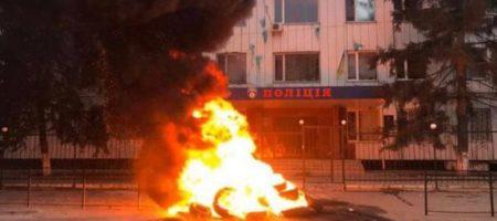 В Каховке бунт против полицейских после резонансного убийства. ВИДЕО