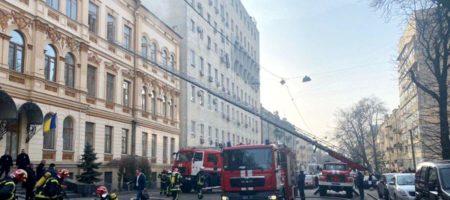 В Киеве горит Министерство культуры. Проводится эвакуация людей (ВИДЕО)