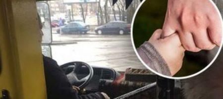 В Киеве водитель маршрутки вызвал восторг, оскорбив женщину с ребенком