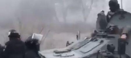 Столкновения в Новых Санжарах: силовики подтянули БТРы. ВИДЕО