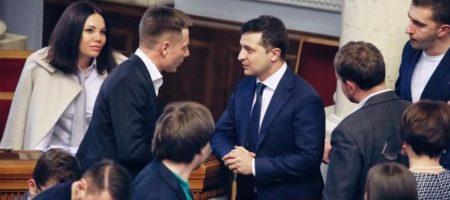 Что сказал Зеленский, гневно подбежавший к Гончаренко (ВИДЕО)