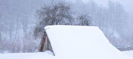 В украинских Карпатах выпало до полуметра снега
