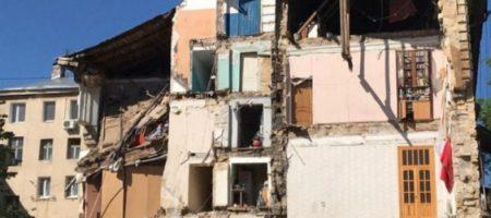 ЧП в центре Одессы: рухнула стена жилого дома, число пострадавших уточняется