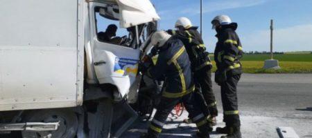 В Павлограде грузовик протаранил электроопору: водителя пришлось вырезать из авто