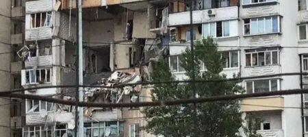 Бах! И подъезда нет: ВИДЕО первых секунд после взрыва в Киеве