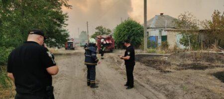 На Луганщине в огне оказались десятки домов и тысячи га леса (ФОТО и ВИДЕО)