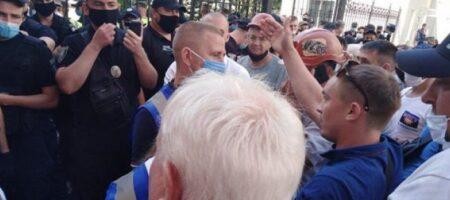 Стычки под ОП: митингующие шахтеры схлестнулись с полицией