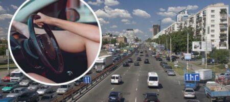 В Киеве девушка-водитель во время езды показывала свой педикюр (ВИДЕО)