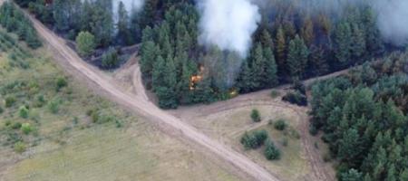 На Луганщине продолжают гореть леса